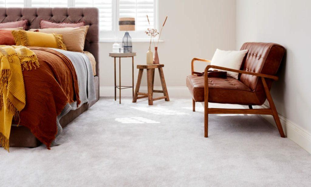 TC Matthews Carpet Range Hero Showing Bedroom Interior Carpet