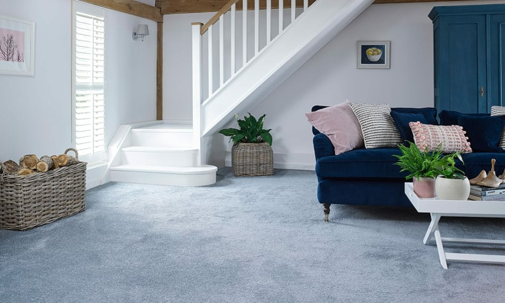 TC Matthews New Product Slide Showing Living Room with Carpet